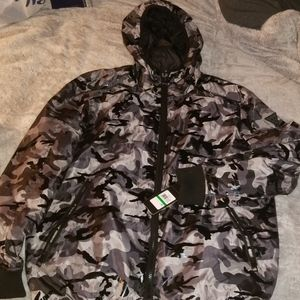 🆕️ Grey and Black Camo Guess Puffer Jacket